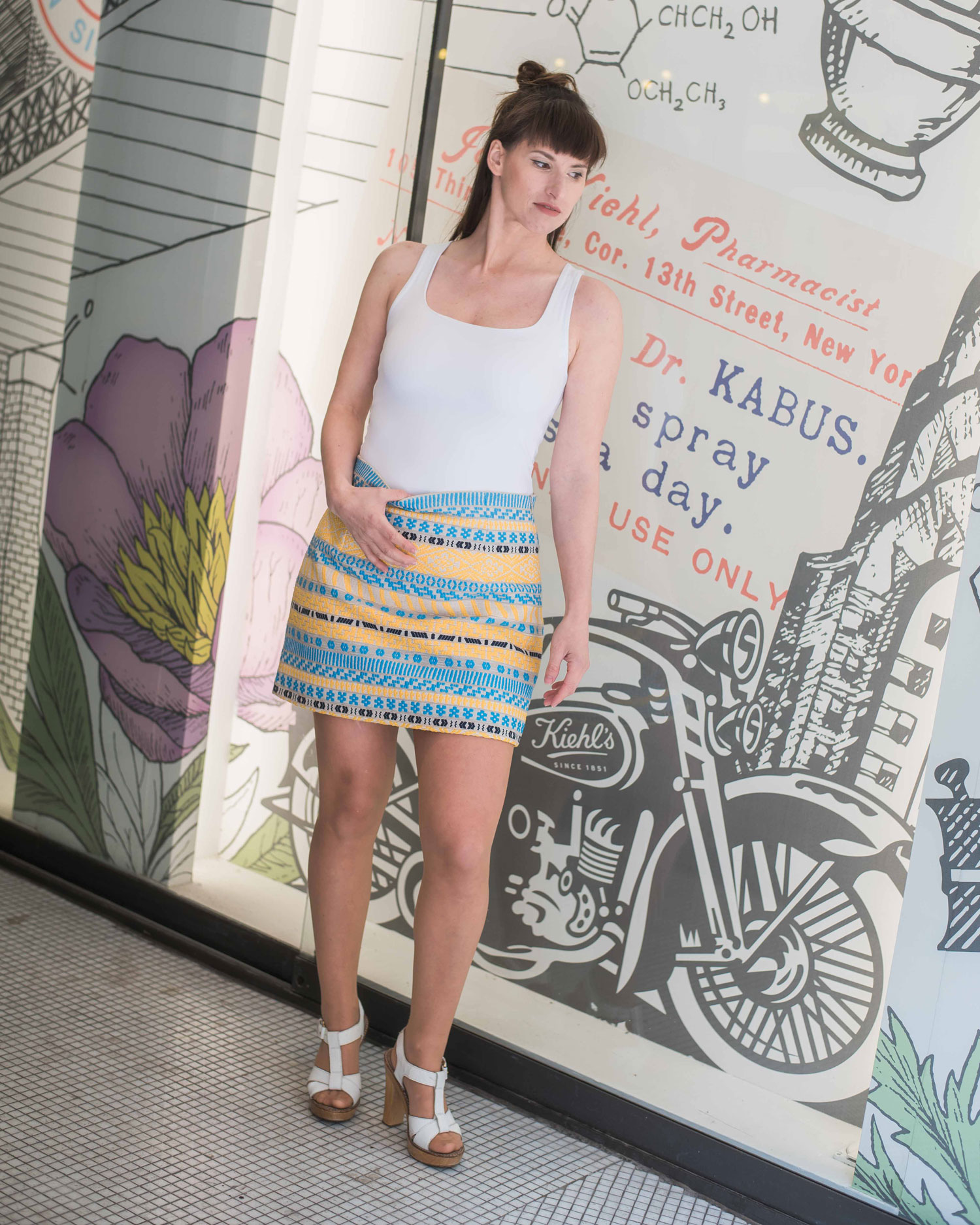 Designer: Rock von Zara, Top von Zara, Sandaletten von Ol'Autre Shoses