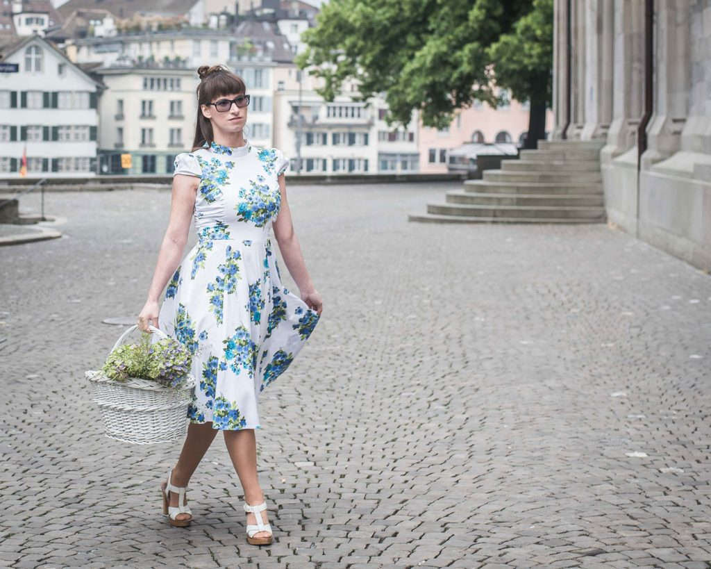 sommer: Ponymädchenkleid, 50er Dress
